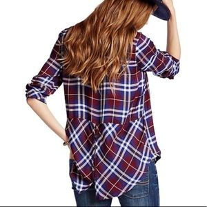 Lucky Brand Flannel Button-Down Top